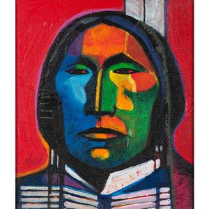 John Nieto (American, b. 1936) Acrylic on Canvas