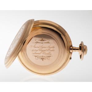 Open Face Remontoir Pocket Watch in 18 Karat Yellow Gold