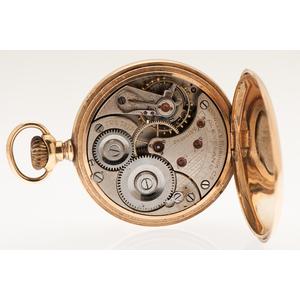 Bowler & Burdick Open Face Pocket Watch in 14 Karat Yellow Gold