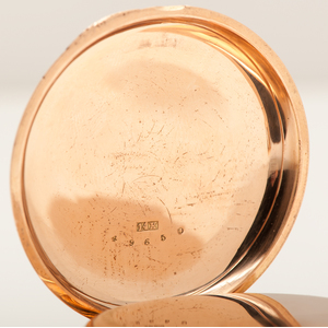 Jaques & Marcus Open Face Split Second Chronograph in 14 Karat Rose Gold