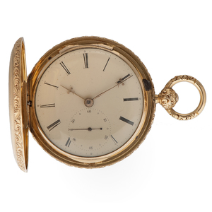 S.I. Tobias 14 Karat Yellow Gold Pocket Watch Ca 1836