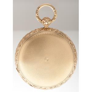 S.I. Tobias 14 Karat Yellow Gold Pocket Watch Ca 1836