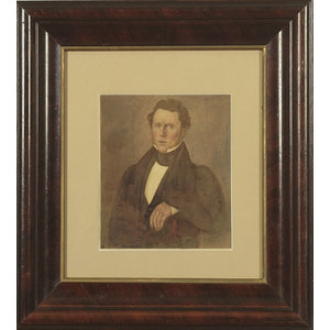 Folk Art Painting of An Illinois Gentleman,