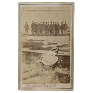 Graphic CDV of Military Execution