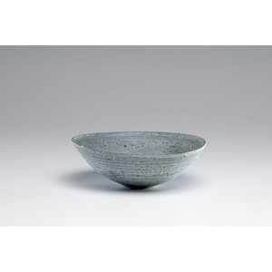 Lucie Rie, Blue Spotted Stoneware Bowl