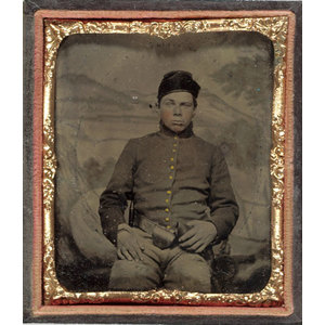 Sixth Plate Tintype of Union Calvary Soldier,