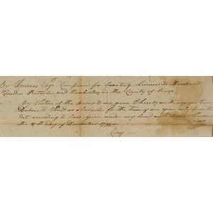 Francis Vigo, American Revolution Supporter, Manuscript Document Signed