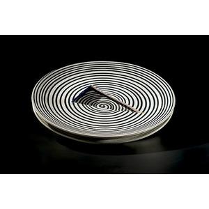 Jun Kaneko, Striped Stoneware Plate
