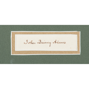 John Quincy Adams, Clipped Signature and 1794 Manuscript Written in his Hand