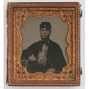 Civil War Sixth Plate Ambrotype of Soldier, Possibly Confederate