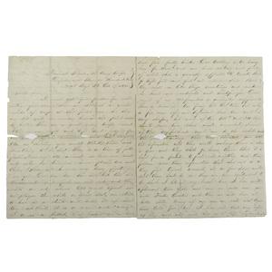 Rare Civil War Letter with Excellent Description of Fraternization Between Union