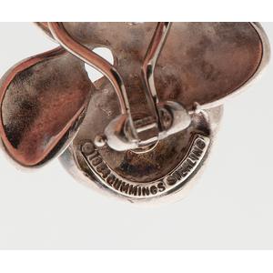 Angela Cummings Orchid Earrings in Sterling Silver