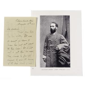 CSA General Joseph Wheeler, ALS, December 1903