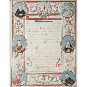 Vows of a Cistercian Nun, Polychrome on Parchment From an Arizona Collector