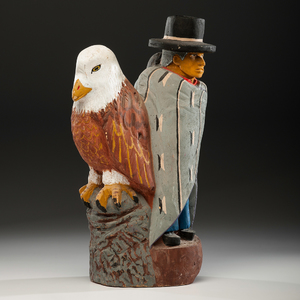 Johnson Antonio (Dine, b. 1931) Carved Wood Sculpture From an Arizona Collector
