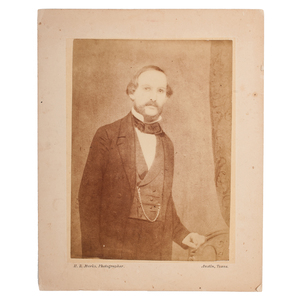 Benjamin McCulloch, Two Albumen Prints by Marks, Austin, Texas, Ca 1860