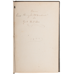 The Life and Services of Gen. Ben McCulloch, by Victor M. Rose, 1888, Signed by Henry E. McCulloch