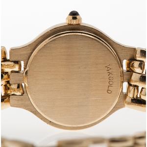 Mathey Tissot 14 Karat and Diamond Wrist Watch