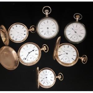 Elgin, Illinois and Waltham Pocket Watches