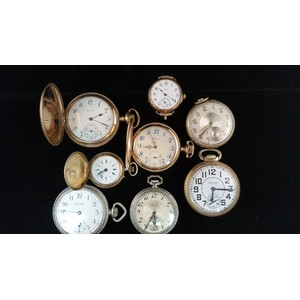 Elgin and Waltham Pocket Watches PLUS