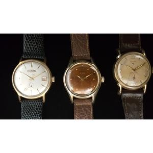 Delbana, Elgin And Benrus Wrist Watches