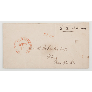 John Quincy Adams Free Franked Envelope