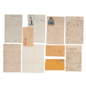 Civil War Collection of Letters from New England Soldiers, Featuring ALS from 6th Connecticut Private Discussing the Siege of Fort Pulaski and Capture of Savannah