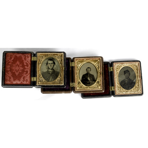 Civil War Ninth Plate Tintypes of Union Soldiers, Group of Three