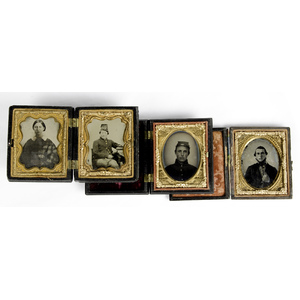 Civil War Ninth Plate Ambrotypes & Tintypes of Union Soldiers, Plus a Wife