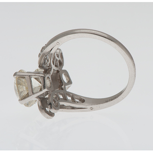 Six Carat Total Weight Diamond Ring in Platinum Ca 1930