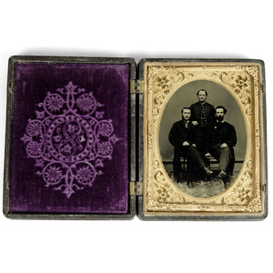 Civil War Quarter Plate Tintype of Union Soldier and his Pards