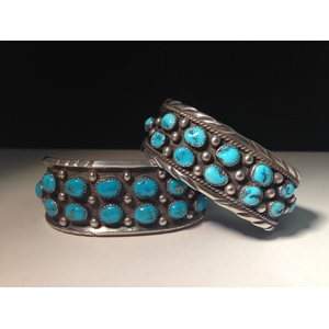 Helen Long (Dine, 20th century) Sterling Silver and Turquoise Bracelet, Plus From the Estate of Lorraine Abell, New Jersey (1929-2015)