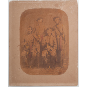 Salted Paper Photograph of Group of Officers