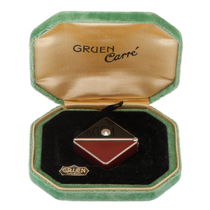 Gruen Guild Carre H4100 in Stainless with Enamel