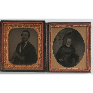 Occupational Tintype and Ambrotype of an Educator and Draftsman