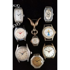 Ingersoll Mickey Mouse and Bradley Barbie Wrist Watches PLUS