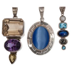 Obsidian Jewelry Company Multi Stone Pendant PLUS