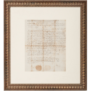 Patrick Henry Land Grant Signed As Governor Of Virginia