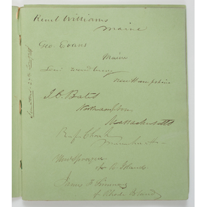 Senators of the 27th US Congress, Autograph Album Featuring James Buchanan & John Calhoun