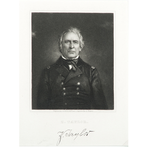 Zachary Taylor Engraving by T.B. Welch