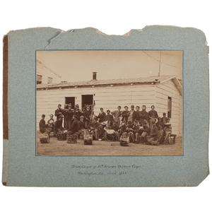 Albumen Photograph, Drum Corps of 10th Veteran Reserve Corps