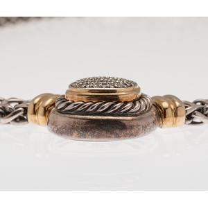 David Yurman Albion Double Wheat Necklace with Pave Diamonds