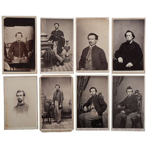 Civil War CDV Album of Soldiers from the 51st Illinois Infantry