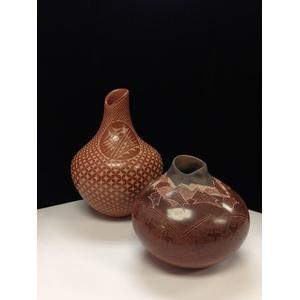 Dusty Naranjo (Santa Clara, b. 1968) and Carol Vigil (Jemez, b. 1960) Pottery Vases