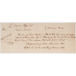 Major General Arthur St. Clair Manuscript DS Plus