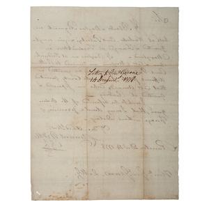 Clement Biddle ALS, 1778