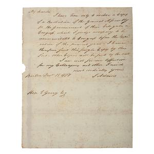 Samuel Adams ALS, 1777