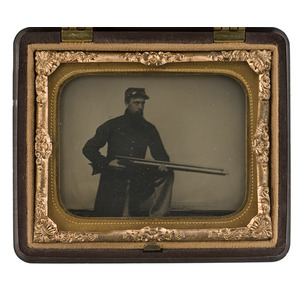 Ninth Plate Ambrotype of Cpl. Abner Colby, Co. G.,  USSS