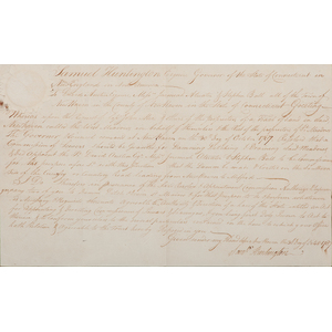 Early Connecticut Documents Signed by Samuel Huntington & John Lewis