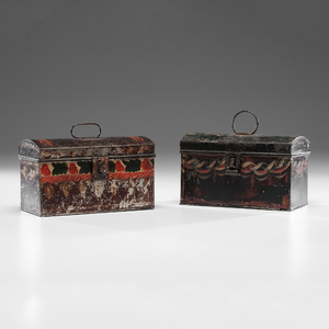 Toleware Boxes and Miniature Metal Ware